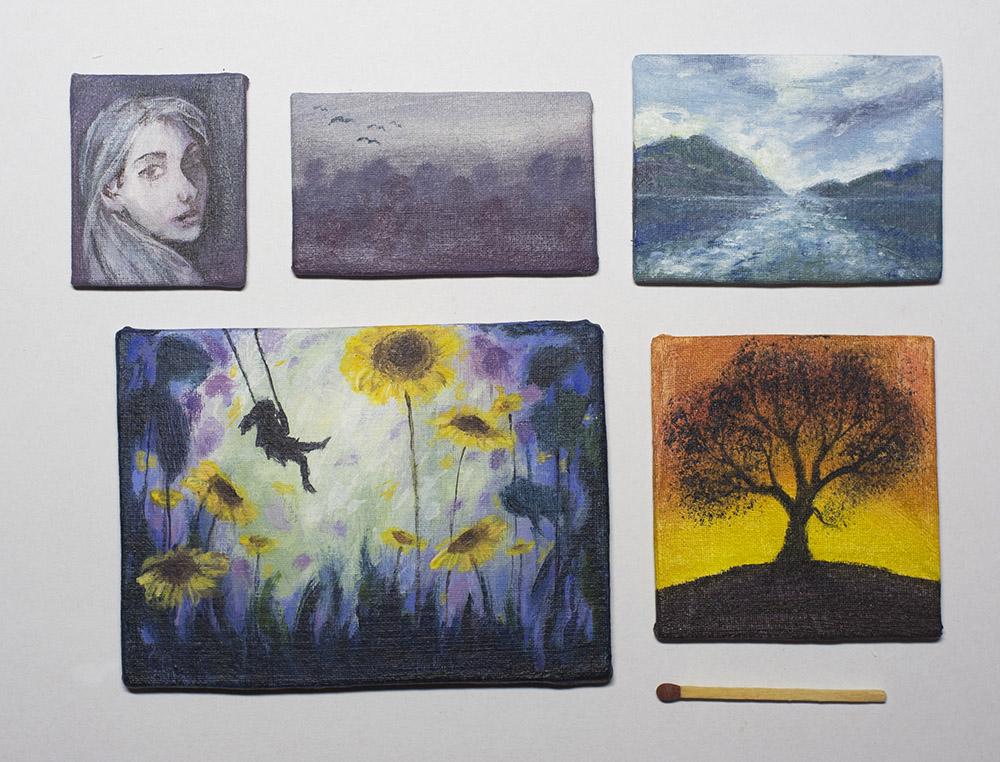 luonto- ja ihmisaiheiset maalaukset